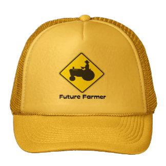 Amarillo futuro del granjero gorras de camionero