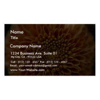 Amarillo grande de la flor de las momias tarjeta personal