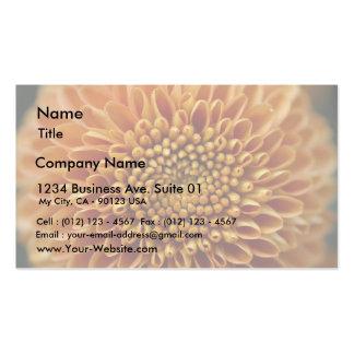 Amarillo grande de la flor de las momias tarjeta de visita
