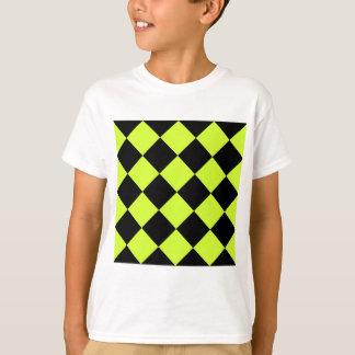 Amarillo Grande-Negro de Diag y fluorescente a Camisas