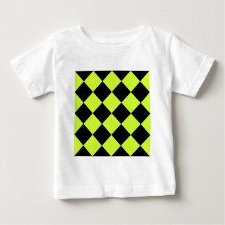 Amarillo Grande-Negro de Diag y fluorescente a Camiseta