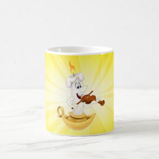 Amarillo lindo de la taza de la vela del dibujo