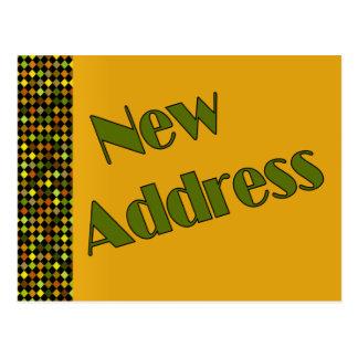 Amarillo oscuro de la nueva dirección postal