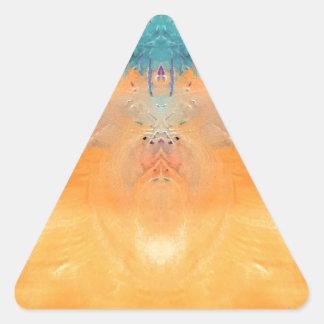 amarillo pegatina triangular