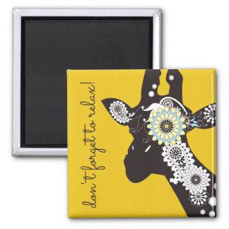 Amarillo personalizado jirafa fresca enrrollada de imanes