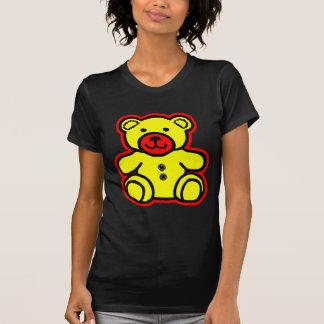 Amarillo rojo del oso de peluche los regalos de Za Camiseta