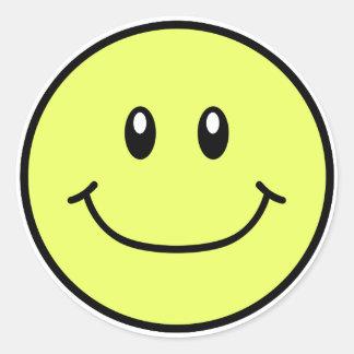 Amarillo sonriente 0001 de los pegatinas de la car