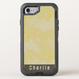 Amarillo superficial de cerámica de la teja llana funda OtterBox defender para iPhone 8/7