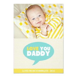 Amarillo tarjeta del día de padre del papá el | invitación 12,7 x 17,8 cm