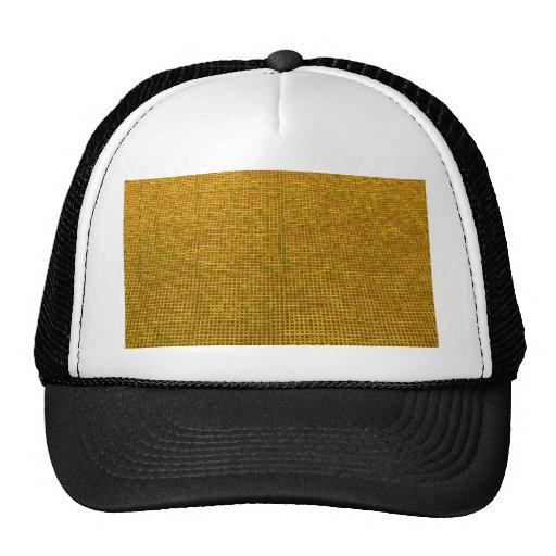 amarillo tejido de la estructura gorro de camionero
