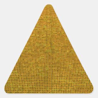 amarillo tejido de la estructura colcomanias de triangulo