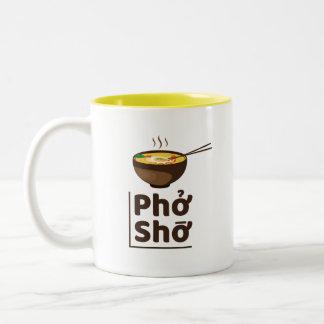 Amarillo único de la taza de Pho Sho de los Ramen