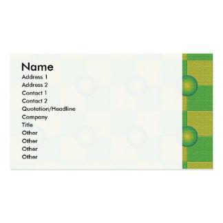 Amarillo verde a cuadros y texturizado en colores tarjetas de visita