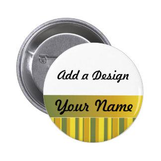 Amarillo, verde, plantilla conocida de la etiqueta chapa redonda de 5 cm