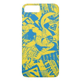 Amarillo y azul del superhombre funda para iPhone 8 plus/7 plus