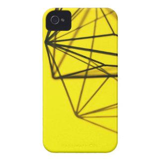 Amarillo y diseño geométrico del metal funda para iPhone 4 de Case-Mate