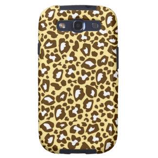 Amarillo y estampado de animales manchado leopardo galaxy s3 cárcasas