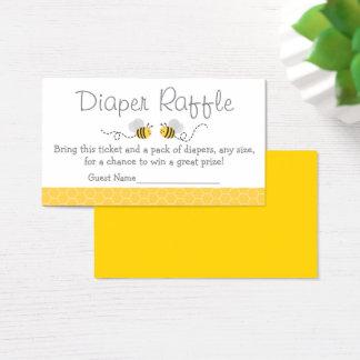 Amarillo y gris manosee los boletos de la rifa del tarjeta de visita