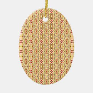 Amarillo y modelo modernos de las cadenas de Brown Adorno De Navidad