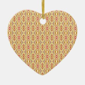 Amarillo y modelo modernos de las cadenas de Brown Ornamentos De Navidad