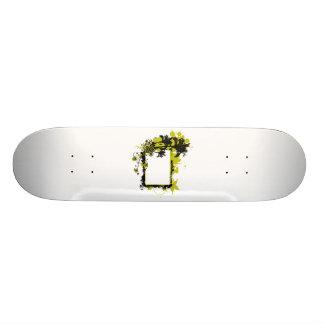 Amarillo y negro del marco de la palmera patineta personalizada