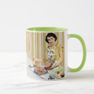 Amas de casa retras/del vintage 50s taza