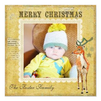 Amber Buck Christmas Photo Card Custom Invitation