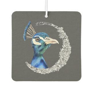 Ambientador Acuarela del pavo real con falso purpurina de