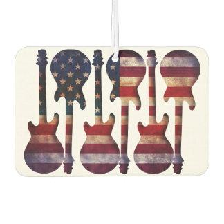 Ambientador Arte de la guitarra de la bandera americana