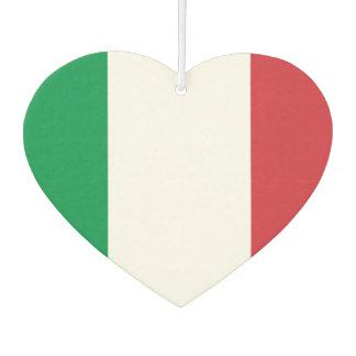 Ambientador Bandera del italiano en fondo del metal