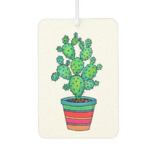 Ambientador Cactus magnífico de la acuarela en pote hermoso