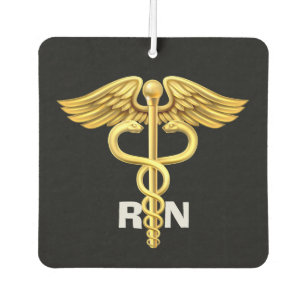Ambientador Coche con monograma hermoso de la enfermera
