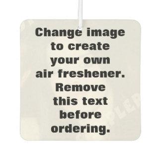 Ambientador de aire personalizado de la foto.
