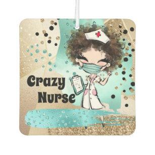 Ambientador Enfermera con máscara confetti purpurina azul dor