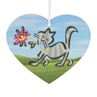 Ambientador Gato de Tabby gris lindo