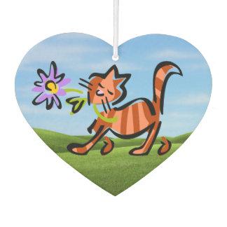 Ambientador Gato rojo lindo del dibujo animado del Tabby