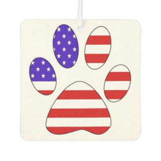 Ambientador Impresión de la pata con la bandera americana
