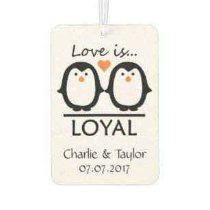 Ambientador Nombres del amor del pingüino y freshner de