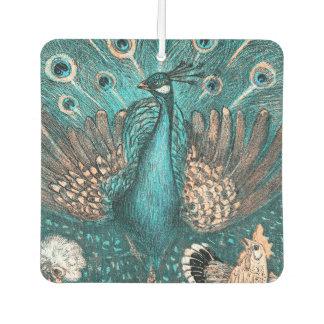 Ambientador pavo real azul