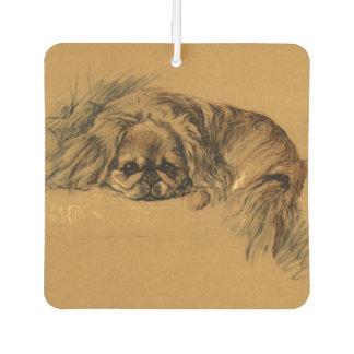 Ambientador Perrito lindo de Pekingese del vintage, perro de