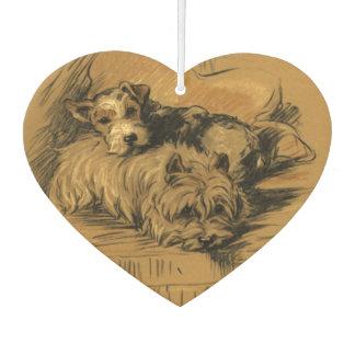 Ambientador Perritos lindos de Terrier del vintage, perros de