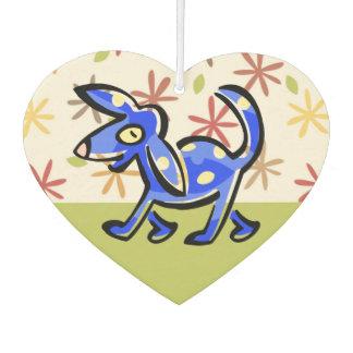 Ambientador Perro azul lindo del dibujo animado, perro en un