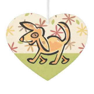 Ambientador Perro lindo del dibujo animado del moreno, perro