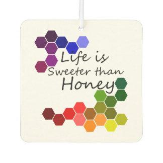 Ambientador Tema de la miel con palabras positivas
