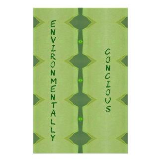 Ambientalmente conciencia verde que va papeleria