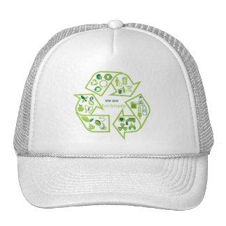 Ambientalmente el verde respetuoso del medio ambie gorro de camionero