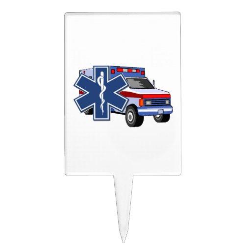 Ambulancia del ccsme decoración de tarta
