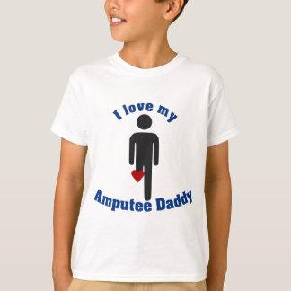 Ame a mi papá del amputado camiseta