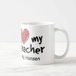 Ame a mi profesor taza de café