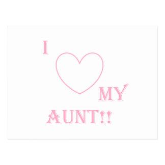 ame a mi tía tarjeta postal